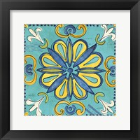 Framed Tuscan Sun Tile IV Color