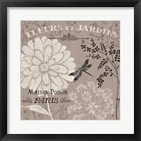 French Linen Garden II Framed Print
