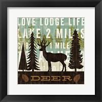 Framed Simple Living Deer