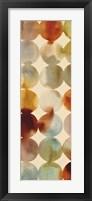 Raindots Panel I Framed Print