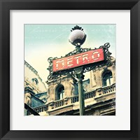 Framed Paris Metro Letter