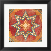 Framed Moroccan Tiles VII