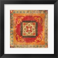 Framed Moroccan Tiles XII