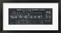 Framed Train Blueprint II Black