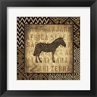 African Wild Zebra Border Framed Print