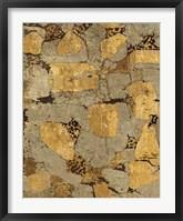 Gilded Stone Gold I Framed Print
