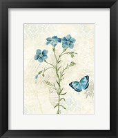 Booked Blue III Crop Framed Print