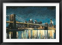 Framed Bright City Lights Blue I