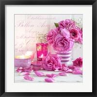Framed Zen Roses I
