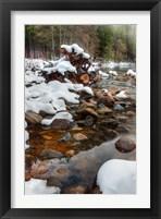 Framed Merced River Rocks, Yosemite, California