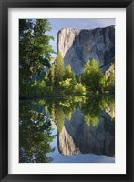 Framed El Capitan reflected in Merced River Yosemite NP, CA