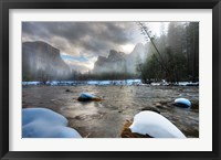 Framed Merced River, El Capitan in background, Yosemite, California