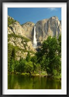 Framed Upper Yosemite Falls, Merced River, Yosemite NP, California