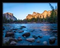 Framed Rocks in The Merced River in the Yosemite Valley