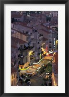 Framed Overview of Rue Faure, Cannes, France