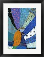 Paradise Peacock Framed Print