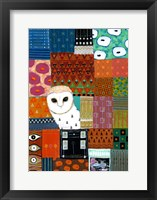 Framed Paradise Owl
