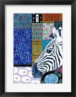 Framed Paradise Zebra
