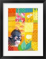 Framed Paradise Monkey