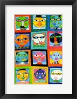 Framed So  Many Faces