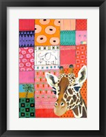 Paradise Giraffe Framed Print