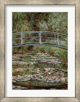 Framed Waterlily Pond, Japanese Bridge