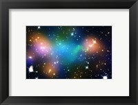 Framed Galaxy Cluster Abell 520 (HST-CFHT-CXO Composite)