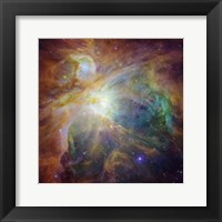 Framed Spitzer and Hubble Create Colorful Masterpiece