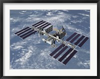 Framed Computer Generated View of the International Space Station