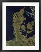 Framed Satellite View of Denmark