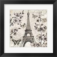 Framed Paris in Bloom I