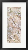 Framed Cherry Blossoms Taupe Panel II