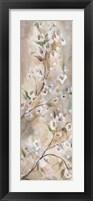 Cherry Blossoms Taupe Panel I Framed Print