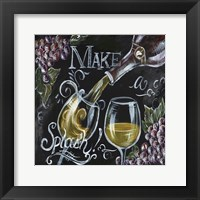 Framed Chalkboard Wine II