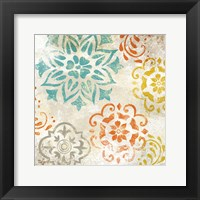 Framed Colorful Medallions I