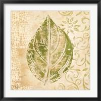 Framed Leaf Scroll IV
