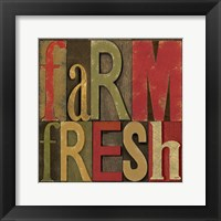 Printers Block Farm To Table IV Framed Print