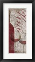 Framed Vino and Vin Panel I