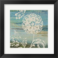 Framed Blue Indigo w/Lace II