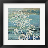 Framed Blue Indigo w/Lace III
