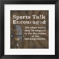 Sports Talk I Framed Print