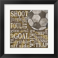 All Star Sports I Framed Print