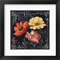 Framed Flowers in Bloom Chalkboard II