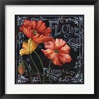 Framed Flowers in Bloom Chalkboard I