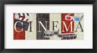 Movie Cinema Signs II Framed Print