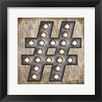 Marquee Symbols I Framed Print