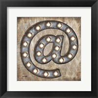 Marquee Symbols II Framed Print