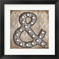 Marquee Symbols IV Framed Print