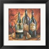 Red and Gold Wine I Framed Print