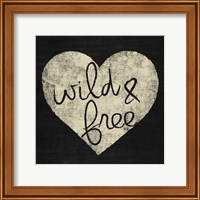 Framed Graffiti Heart Black/Cream III